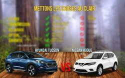 Le Hyundai Tucson 2016 vs Le Nissan Rogue 2016