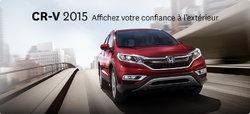 CR-V  VEHICULE UTILITAIRE SPORT DE L'ANNEE 2015 PAR MOTOR TREND