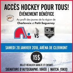 Tournoi de hockey bénéfice!