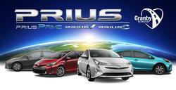 La famille Prius 2018 à Granby! Prius c, Prius v et Prius Prime!