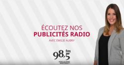 Publicité radio avec Émilie Aubry