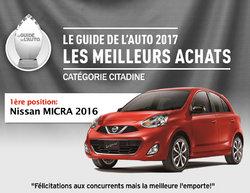 La Micra remporte la palme d'or au Guide de l'auto 2017