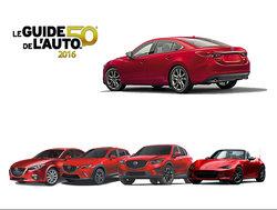 Mazda rafle les honneurs avec le Guide de l'auto 2016!