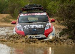 Une Nissan Leaf en rallye!