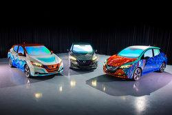 Trois Nissan Leaf bien spéciales à la première mondiale du film « Un raccourci dans le temps »