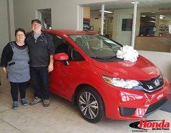 Félicitations à M. Doris Beauchesne et Suzanne Ross pour votre nouveau Honda. Bonne route et merci de votre confiance!  #maHonda