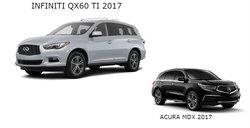 Infiniti QX60 2017 vs Acura MDX 2017