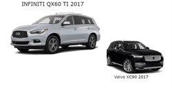 Infiniti QX60 2017 vs Volvo XC90