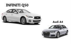 Infiniti Q50 2017 contre Audi A4 2017