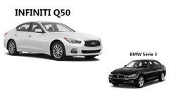 Infiniti Q50 2017 versus BMW Série 3 2017