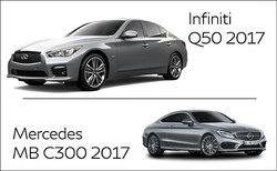 Infiniti Q50 2017 contre Mercedes-Benz C 300 2017