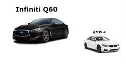 Infiniti Q60 2017 contre BMW Série 4 2017