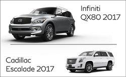Infiniti QX80 2017 vs Cadillac Escalade