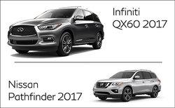 Infiniti QX60 2017 vs Nissan Pathfinder