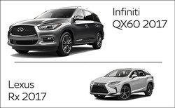 Infiniti QX60 2017 vs Lexus RX