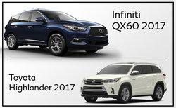 Infiniti QX60 2017 vs Toyota Highlander