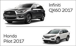Infiniti QX60 2017 vs Honda Pilot