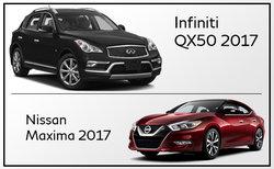 Infiniti Q50 2017 vs Nissan Maxima