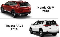 Honda CR-V 2018 contre Toyota RAV4: deux VUS de qualité