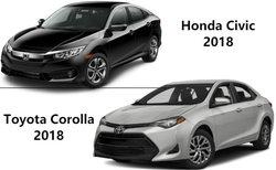 Honda Civic 2018 versus Toyota Corolla 2018 : deux options à considérer