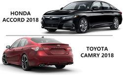 Honda Accord 2018 vs Toyota Camry 2018 : si l'espace compte pour vous