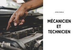 Offre d'emploi : Mécanicien et technicien