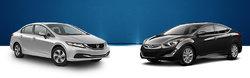 Honda Civic 2015 vs. Hyundai Accent 2015