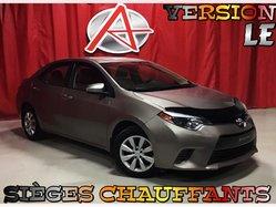 Toyota Corolla * LE * SIÈGES CHAUFFANTS *  2015