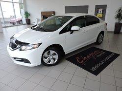 Honda Civic LX AUTOMATIQUE GARANTIE PROLONGÉE  2014