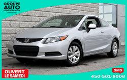 Honda Civic Cpe *LX*AUTOM*A/C*2 PORTES*SILVER*  2012