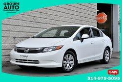 Honda Civic Sdn *LX*4PORTES*BLANC*97000KM*A/C*  2012