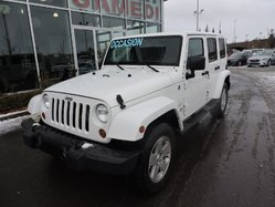 Jeep Wrangler Unlimited SAHARA 4X4 2 TOIT JAMAIS ACCIDENTÉE  2012