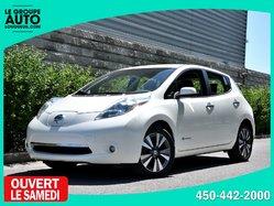 Nissan Leaf *SL*QUICKCHARGE*BLANCHE*CUIR*NAVI*  2015