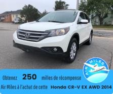 Honda CR-V EX AWD Bas kilométrage 2.4L L4  2014
