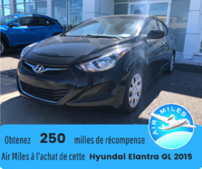 Hyundai Elantra GL Automatique Bancs chauffants  Bas kilométrage  2015