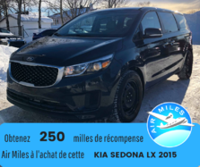 2015 Kia Sedona L 7passagers Chauffage arrière Siège rabattable