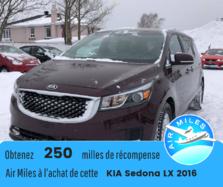 Kia Sedona LX 7passagers Bluetooth A\C Caméra arrière  2016