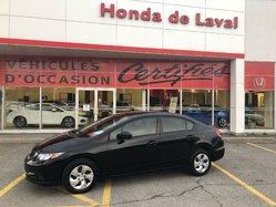 Honda Civic LX  CERTIFIE  2015