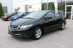 Honda Civic Sedan LX /  Honda Canada Programme certifiés 7/160k  2014