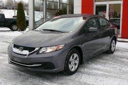 Honda Civic Sedan LX /  Honda Canada Programme certifiés 7/160k  2015