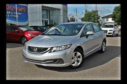 Honda Civic Sedan LX, A/C ET CRUISE  2015