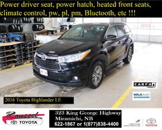 Toyota Highlander LE Convenience  2016