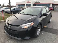 Toyota Corolla CE GROUPE ELECTRIQUE GARANTIE SUPPLÉMENTAIRE PEA  2015