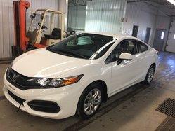 Honda Civic Coupe LX TRES BAS KILO, GARANTIE 7 ANS / 130 000 KM  2015