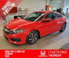 Honda Civic Coupe LX BAS KILOMETRAGE COMME NEUF GARANTIE PROLONGEE  2017