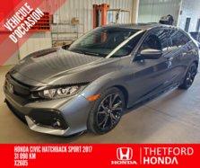 Honda Civic Hatchback SPORT TURBO VITRES TEINTÉES *GARANTIE PROLONGEE **  2017