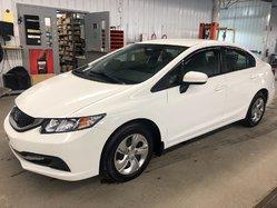 Honda Civic Sedan LX JAMAIS ACCIDENTÉ, UNE PROPRIO  2015