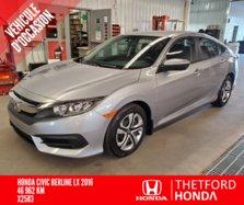 Honda Civic Sedan LX BAS KILO GARANTIE PROLONGÉE COMPLETE  2016