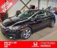 Honda Civic Sedan LX BAS KILO **APPLE CARPLAY / ANDROID AUTO  2016