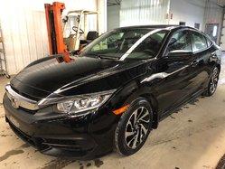 Honda Civic Sedan DX + MAGS +  GARANTIE COMPLÈTE 4 ANS / 100 000 KM.  2017